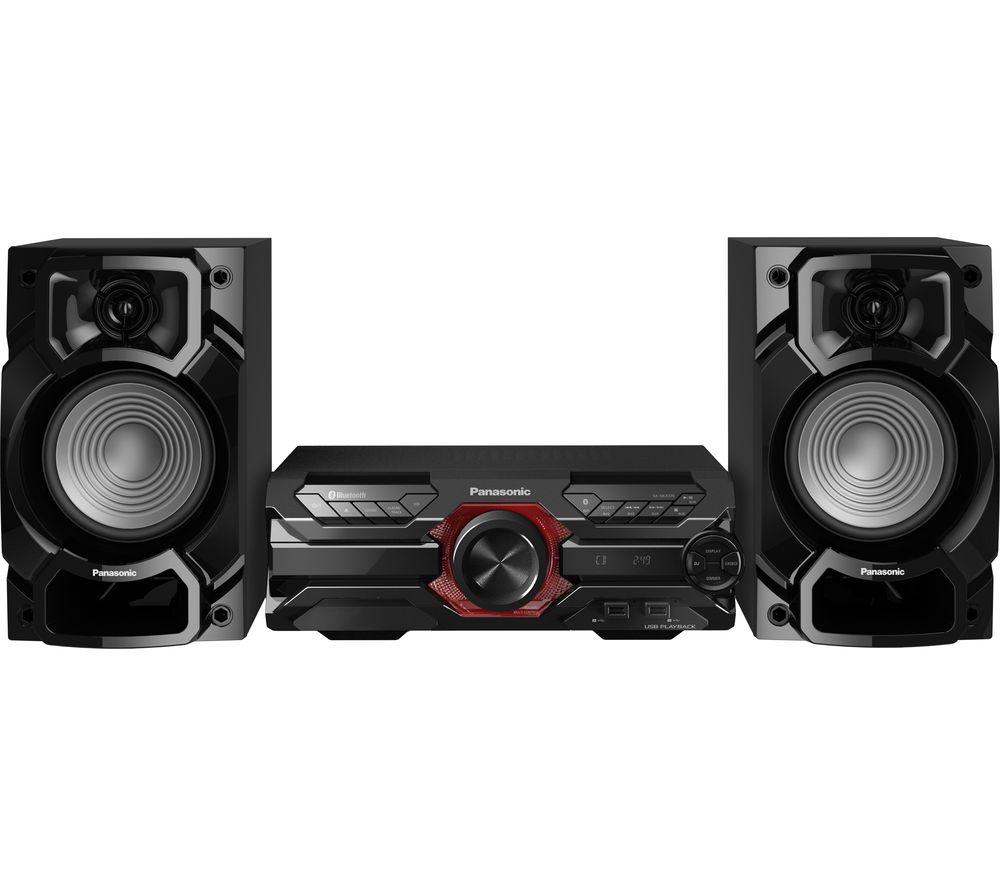 PANASONIC SC-AKX320E-K Bluetooth Megasound Party Hi-Fi System - Black, Black