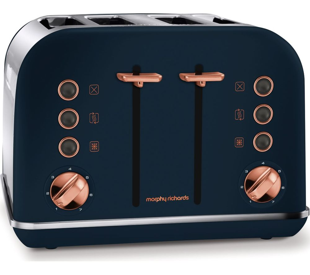 242039 4-Slice Toaster - Midnight Blue & Rose Gold, Blue