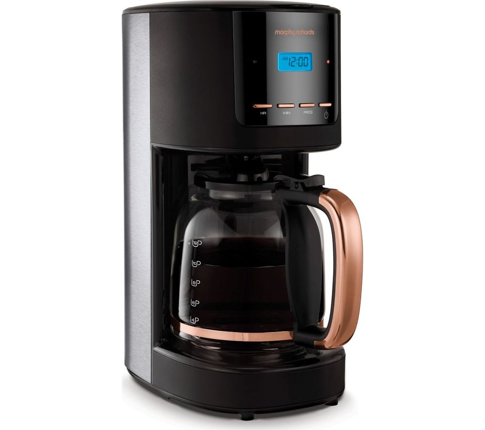 MORPHY RICHARDS Rose Gold Collection 162030 Filter Coffee Machine - Black & Rose Gold