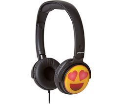 GROOV-E GV-EMJ13 EarMOJI's Heart Eyes Face Kids Headphones - Black
