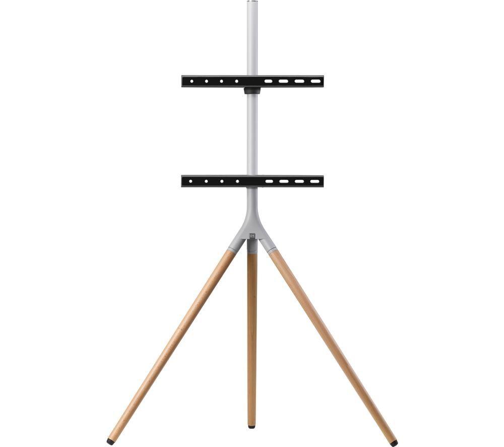 ONE 4 ALL WM 7472 420 mm TV Stand with Bracket - Oak & Silver Grey