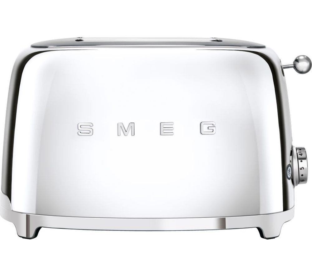 SMEG 50's Retro TSF01SSUK 2-Slice Toaster - Chrome