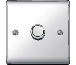 Decorative NPC81P-01 Rotary Dimmer - Polished Chrome