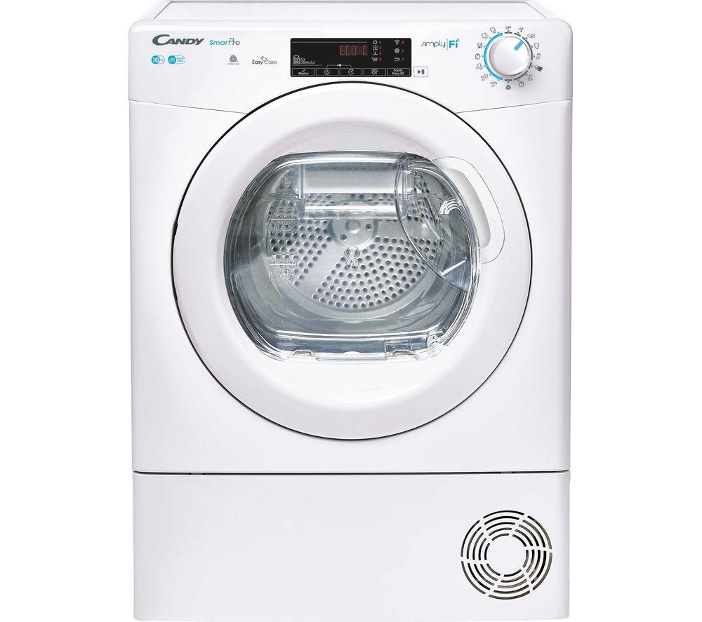 CANDY Smart Pro CSO C10TE WiFi-enabled 10 kg Condenser Tumble Dryer - White, White