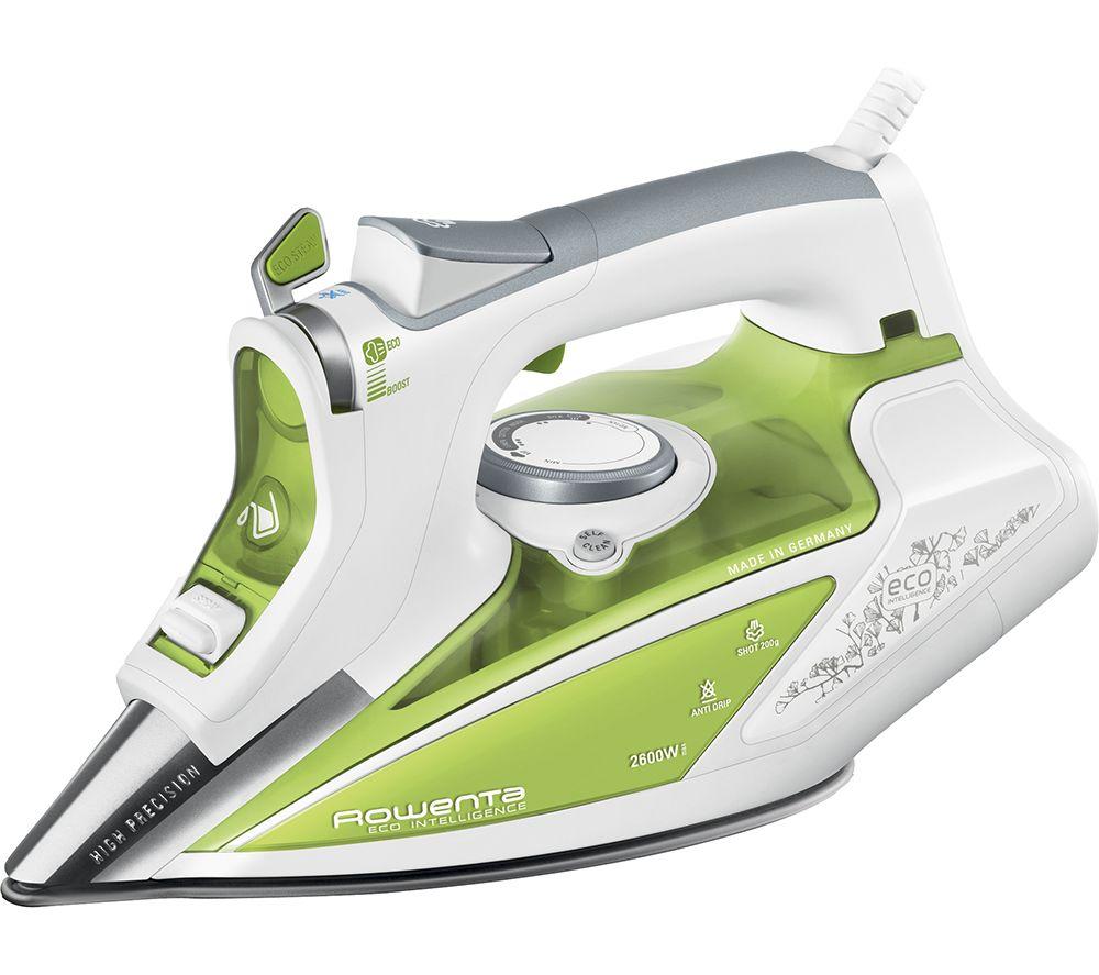 Rowenta Eco Intelligence DW9210 Steam Iron - White & Green