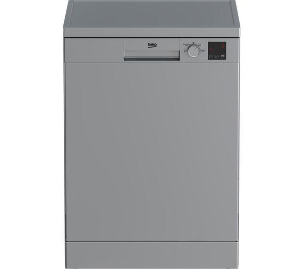 Image of BEKO DVN04X20S Full-size Dishwasher - Silver