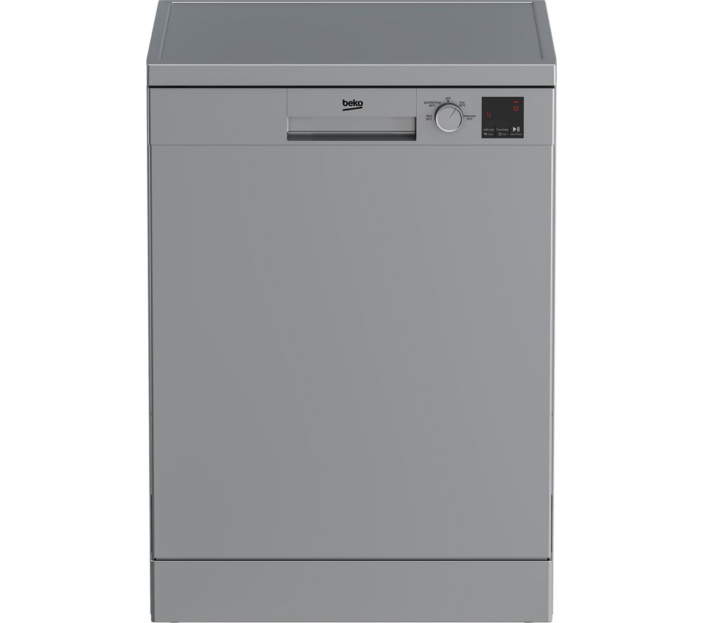 Image of BEKO DVN04X20S Full-size Dishwasher - Silver, Silver