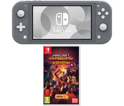 Switch Lite & Minecraft Dungeons Bundle - Grey