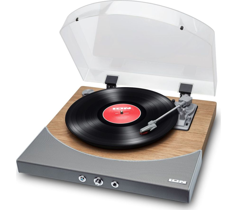ION Premier LP Natural Belt Drive Bluetooth Turntable - Wood