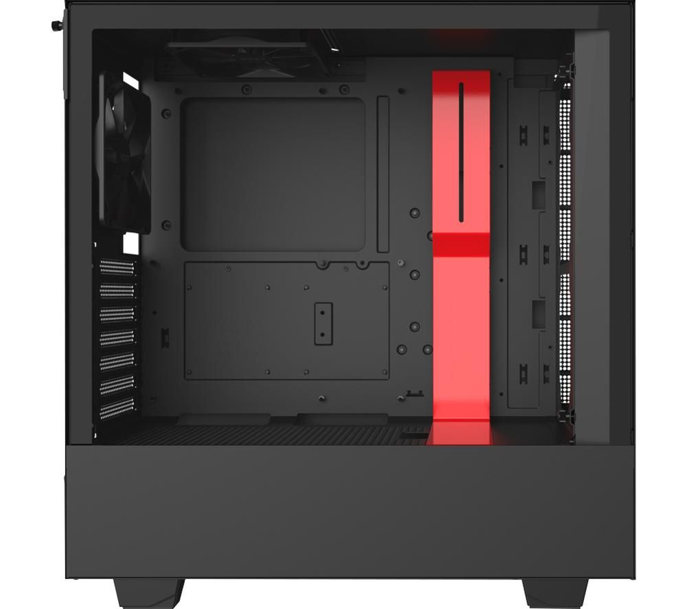 Image of NZXT H510 ATX Mid-Tower PC Case - Black & Red, Black