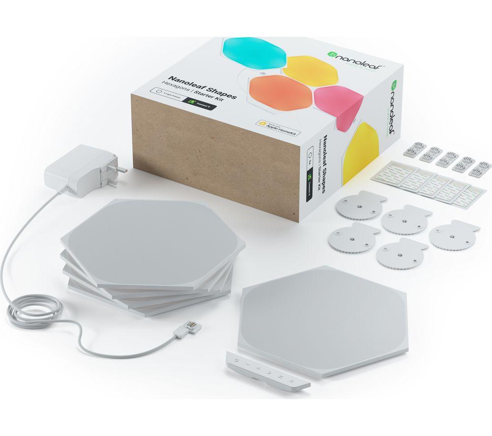 NANOLEAF Shapes Hexagon Smart Lights Starter Kit - Pack of 5