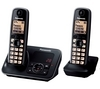 PANASONIC KX-TG6622EB Cordless Phone with Answering Machine - Twin Handsets