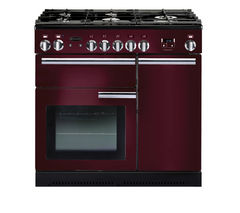 RANGEMASTER Professional+ 90 Gas Range Cooker - Cranberry & Chrome