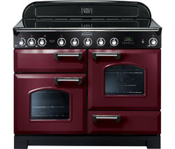 RANGEMASTER Classic Deluxe 110 Electric Induction Range Cooker - Cranberry & Chrome