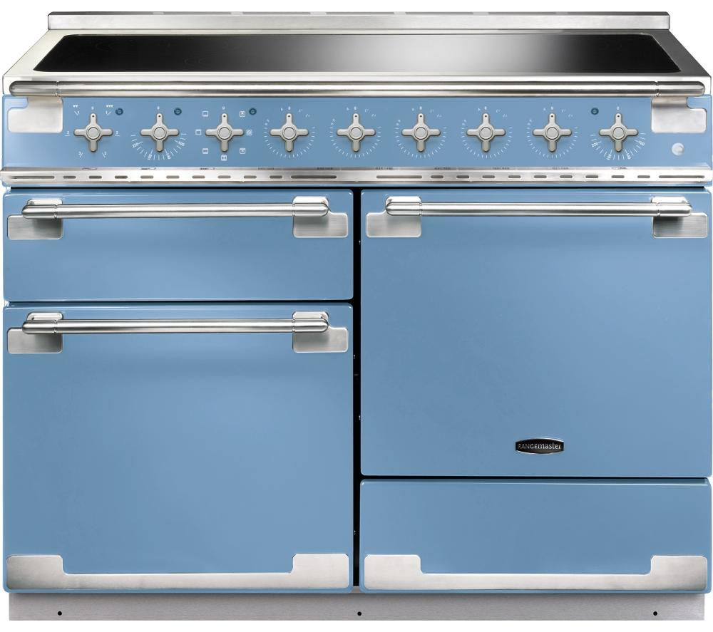 Image of RANGEMASTER Elise 110 Electric Induction Range Cooker - China Blue & Chrome, Blue