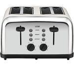 LOGIK L04TC14 4-Slice Toaster - Silver & Cream