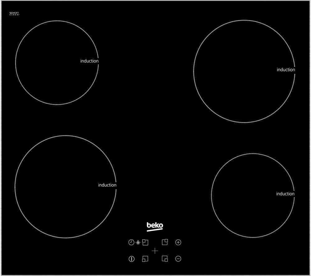 BEKO Pro HXI64401ATX Electric Induction Hob - Black