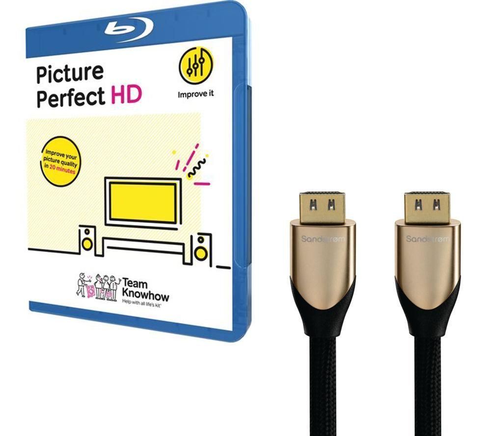 KNOWHOW Picture Perfect & 1 m HDMI Cable with Ethernet Bundle