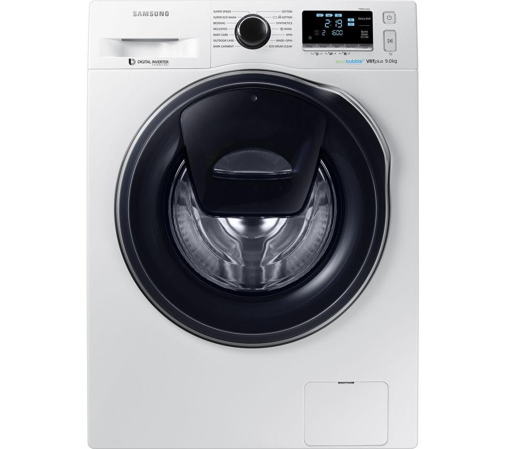 SAMSUNG AddWash WW90K6610QW Washing Machine - White
