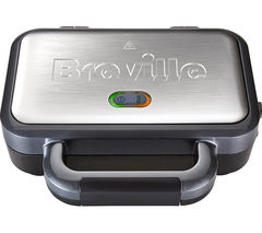 BREVILLE VST041 Deep Fill Sandwich Toaster - Graphite & Stainless Steel