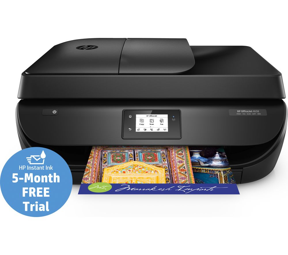 HP OfficeJet 4658 All-in-One Wireless Inkjet Printer with Fax