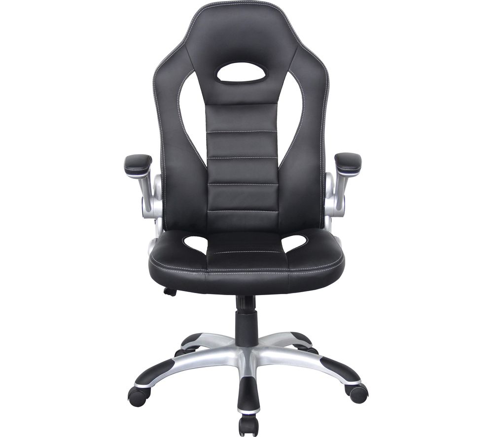 ALPHASON Talladega Faux-Leather Tilting Executive Chair - Black & White