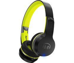 MONSTER Isport Freedom Wireless Headphones - Black & Green