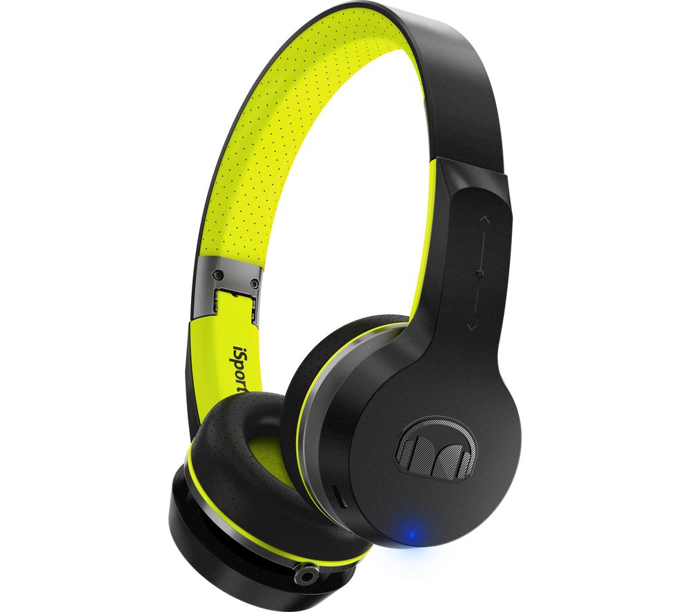 MONSTER Isport Freedom Wireless Bluetooth Headphones - Black & Green