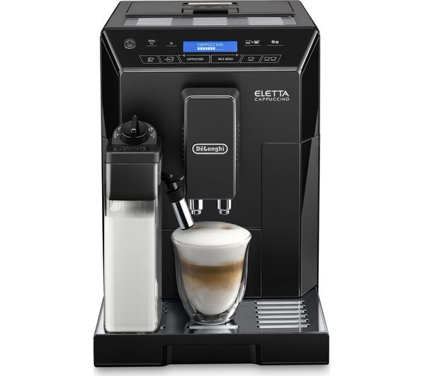 buy delonghi eletta cappuccino bean to cup coffee machine black free delivery. Black Bedroom Furniture Sets. Home Design Ideas