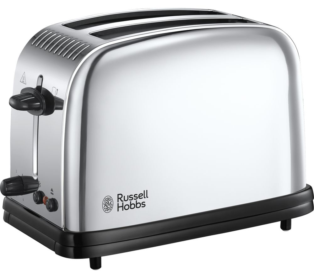 buy russell hobbs classic 23310 2 slice toaster stainless steel free delivery currys