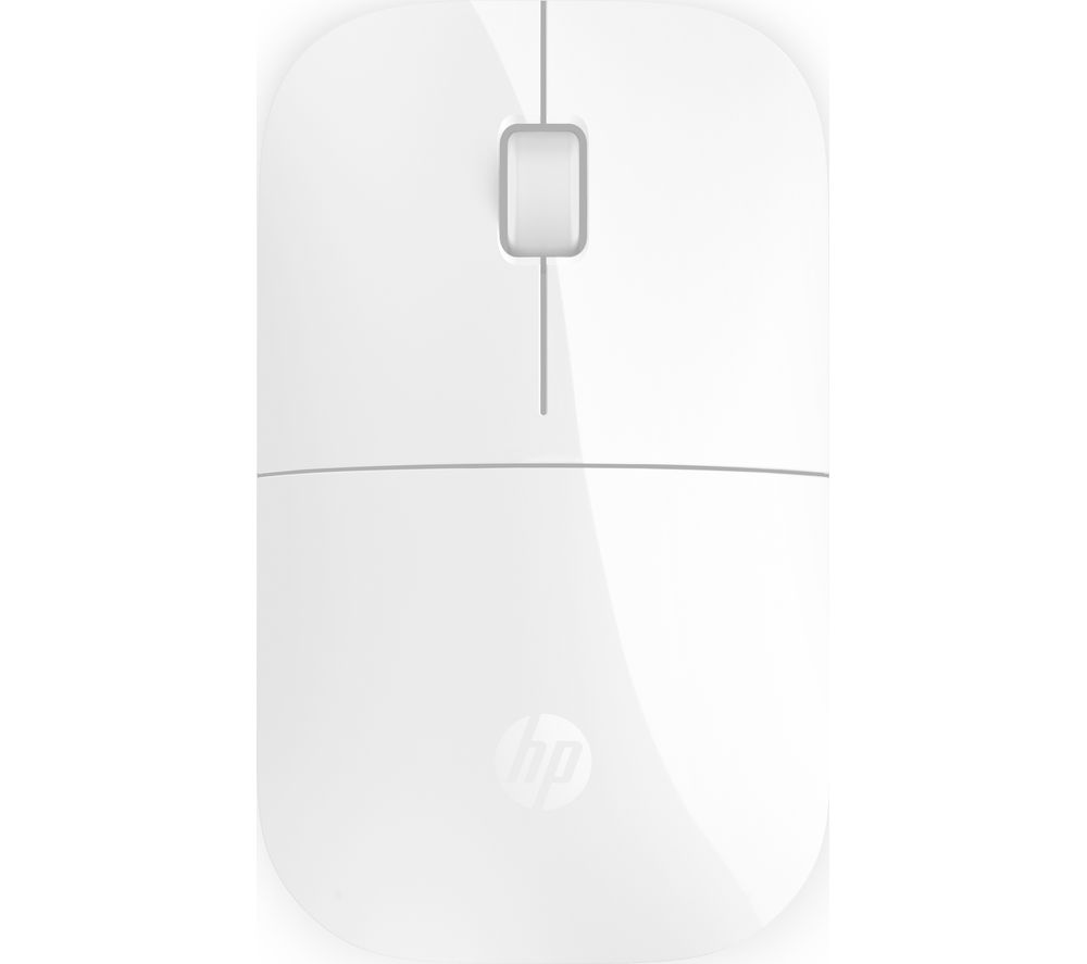 Image of HP Z3700 White 2.4 GHz USB Slim Wireless Mouse with Blue LED1200 DPI Optical Sensor, Up to 16 Months Battery Life
