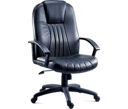TEKNIK City 8099 Leather Faced Reclining Executive Chair - Black