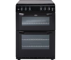 BELLING FSDF60 DOW 60 cm Dual Fuel Cooker - Black