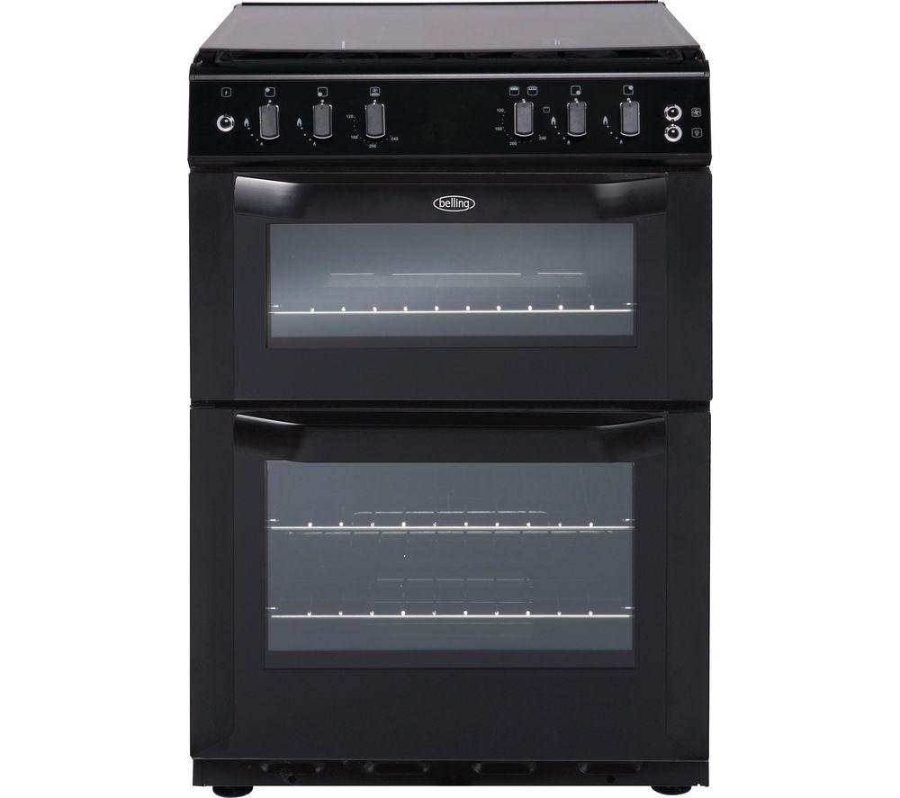 buy belling fsdf60 dow 60 cm dual fuel cooker black. Black Bedroom Furniture Sets. Home Design Ideas