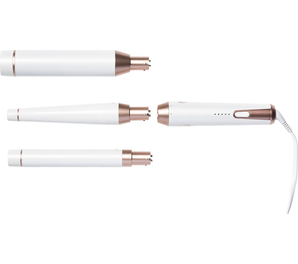 T3 Whirl Trio Styling Wand - White & Rose Gold