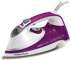 MORPHY RICHARDS Turbosteam Pro Pearl 303126 Steam Iron - White & Purple