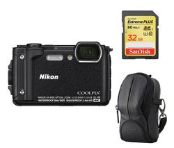 NIKON COOLPIX W300 Tough Compact Camera - Black