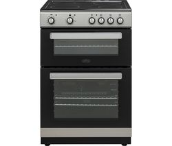 BELLING FSE608D 60 cm Electric Ceramic Cooker - Silver & Black