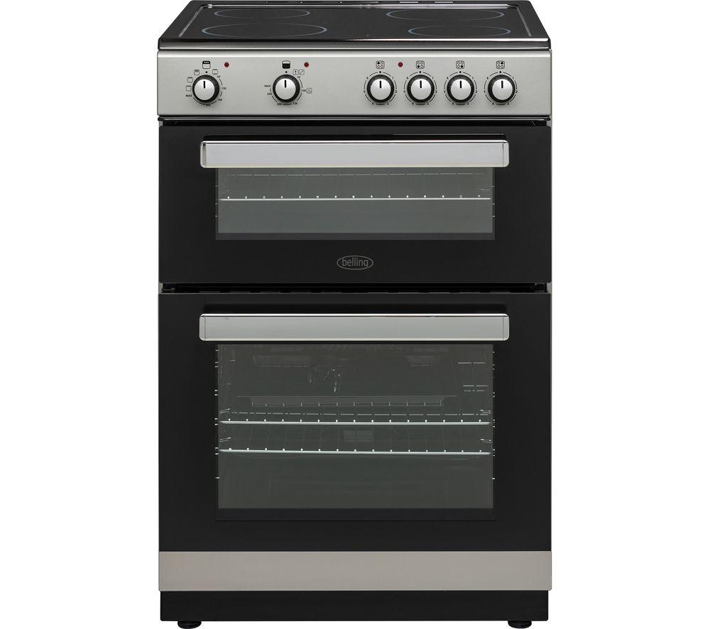 BELLING FSE608D 60 cm Electric Ceramic Cooker - Silver & Black