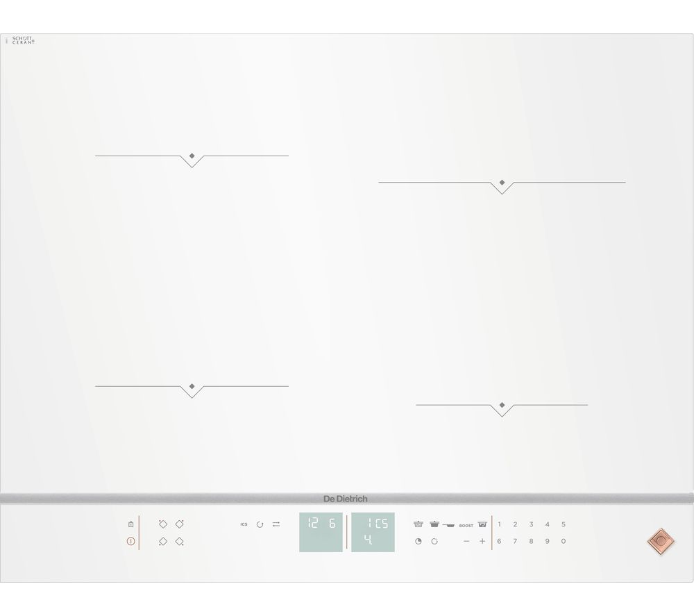 Image of DE DIETRICH DPI7670W Electric Induction Hob - White, White