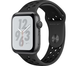 APPLE Watch Series 4 Nike+ - Space Grey & Anthracite Sports Band, 44 mm