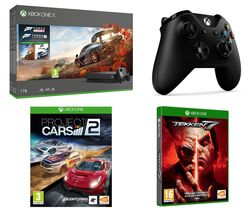 MICROSOFT Xbox One X, Forza Horizon 4, Forza Motorsport 7, Tekken 7, Project Cars 2 & Wireless Controller Bundle