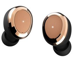 DEAREAR Oval Wireless Bluetooth Headphones - Black & Gold