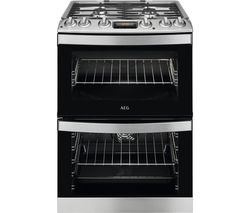 AEG CKB6540ACM 60 cm Dual Fuel Cooker – Stainless Steel