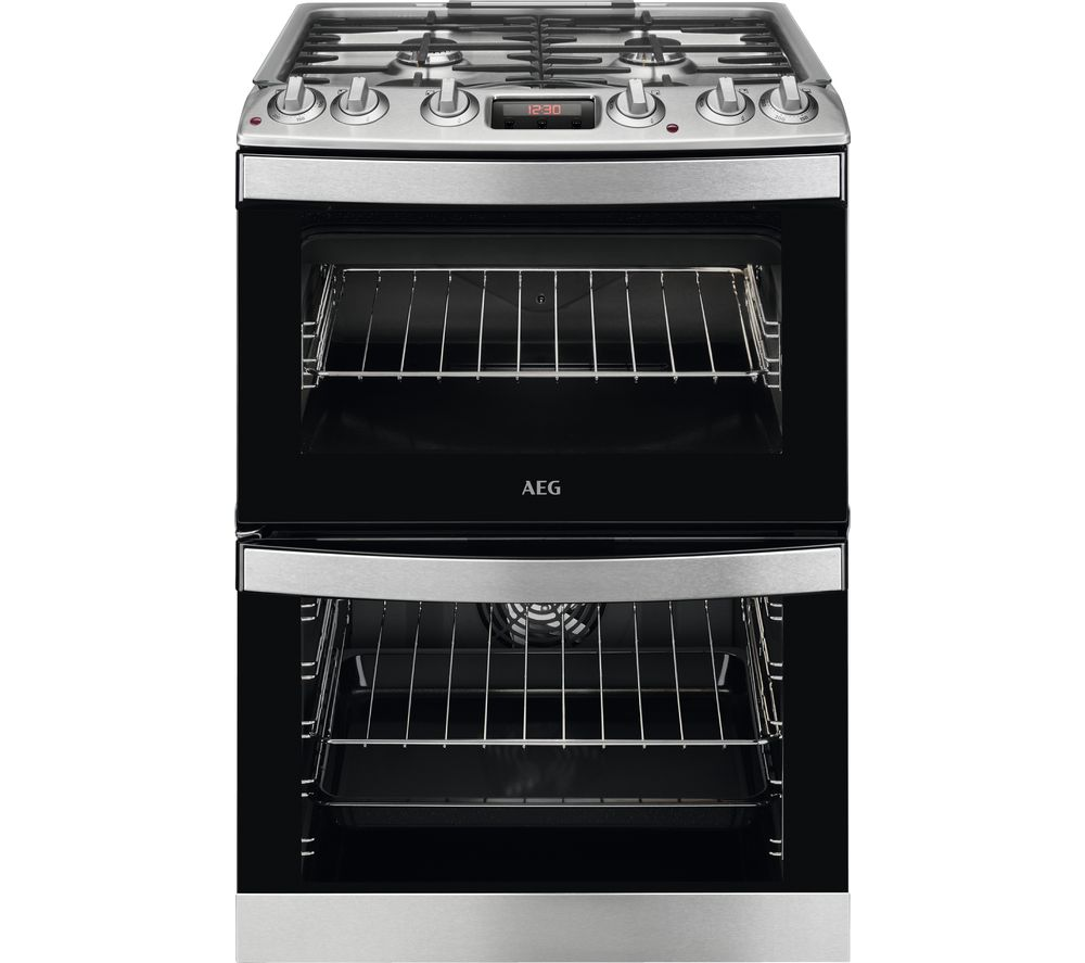 AEG CKB6540ACM 60 cm Dual Fuel Cooker -û Stainless Steel
