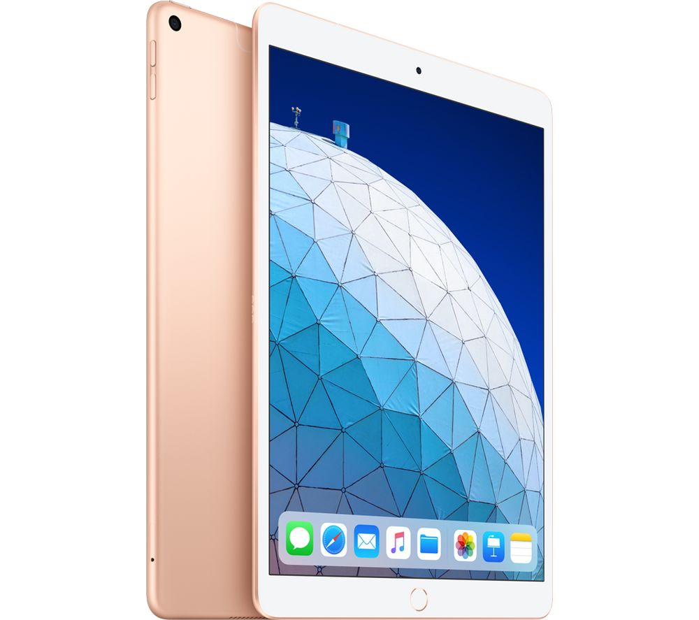 "Image of 0.5"" iPad Air Cellular (2019) - 256 GB, Gold, Gold"