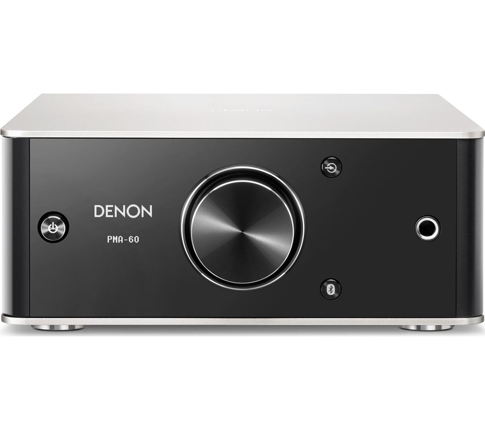DENON PMA-60 2.1 Bluetooth Stereo Amplifier - Black & Silver