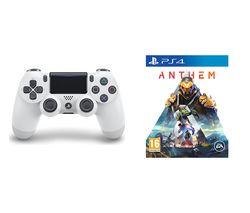 PS4 Anthem & DualShock 4 V2 Wireless Controller Bundle - White