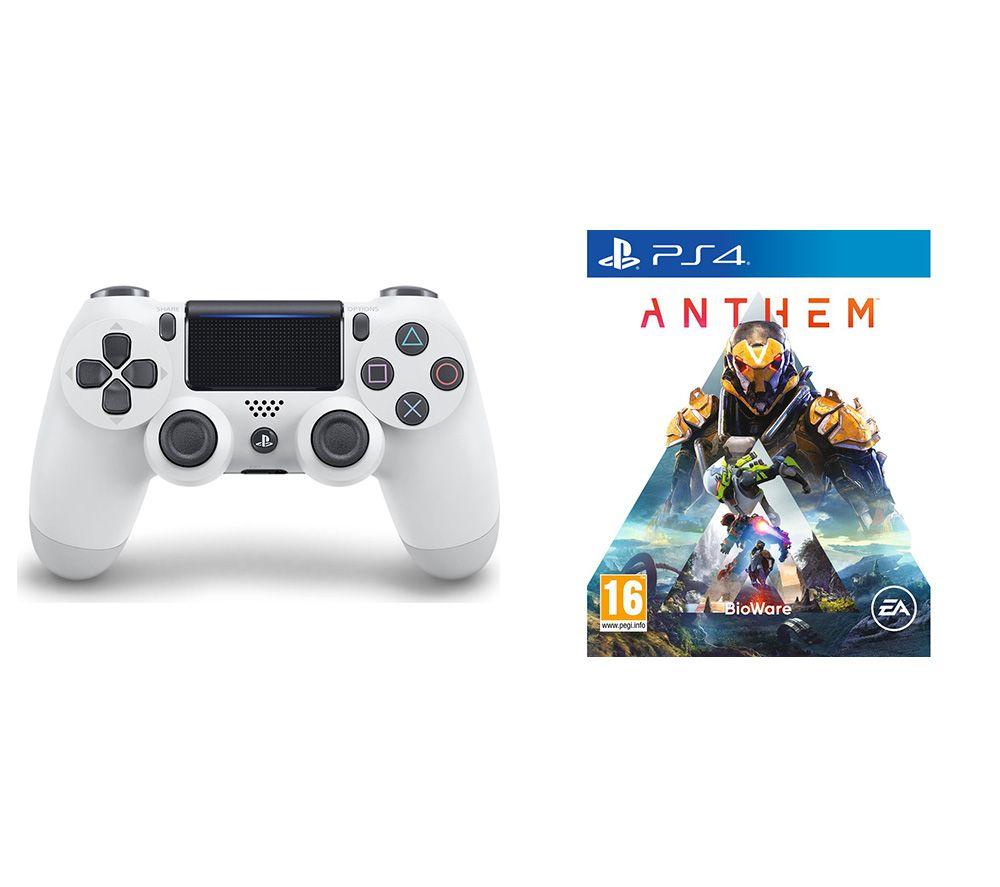 SONY Anthem & DualShock 4 V2 Wireless Controller Bundle - White, White