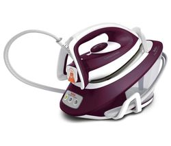 TEFAL Express Compact Anti-Scale SV7120 Steam Generator Iron - Purple & White